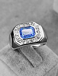 Ringe Kristall Party / Alltag Schmuck Aleación Herren Ring 1 Stück,15 Silber