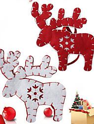 2pcs couleur aléatoire ont une ambiance de fête noël ornement cadeau de Noël décoration Pendentif