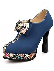 Women's Heels Spring Fall Leatherette Office & Career Casual Dress Chunky Heel Black Green Blue