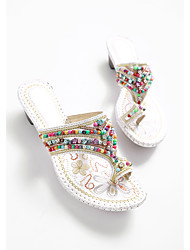 Damen-Slippers & Flip-Flops-Lässig-PUKomfort-Weiß