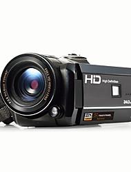 ORDRO® Multi-função Camera 1080P / Anti-Choque / Detecção de Sorriso / Touchscreen / WIFI / Inclinável LCD Preta