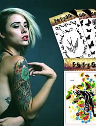 5 Tatuagens Adesivas Séries Animal / Série Florida / Séries Totem / Outros / Série dos desenhos animados / Série românticanão tóxica /