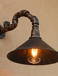 ac 110-130 / ac 220-240 recurso revestimento 40 e26 / e27 rústico / lodge / país óxido de preto para lâmpada incluída, ambient sconceswall