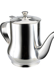 1 PC Stainless Steel Household Oil cCan Filling Vinegar Pot Leakproof Capped Kitchen Oil tTank Soy Cruet