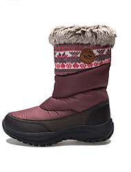TnTn Women's Snow sports Mid-Calf Boots Winter Anti-Slip / Waterproof / Breathable Shoes Gray / Burgundy