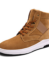 Men's Boots Spring / Fall / Winter Comfort Synthetic Casual Flat Heel Lace-up Black / Blue / Red / Beige