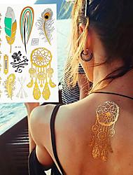 4 Tatuagens Adesivas Séries de Jóias / Série Florida / Séries Totem / Outros / Série dos desenhos animados / Série românticanão tóxica /