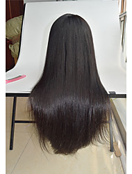 8 '' - 26 '' pelo humano recto sedoso pelucas pre pelo virginal malasio arrancó pelucas pelucas de pelo recto del cordón de la peluca del