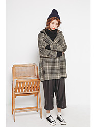 Korean version of the official website Dongdaemun new winter wool woolen cotton classic casual plaid coat outer