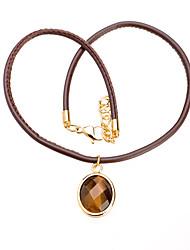 mode titane Collier ovale pendentif en acier