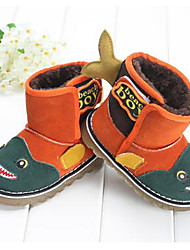 Kids' Boys' Boots Winter Fleece Outdoor Flat Heel Animal Print Orange Green
