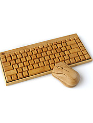 Wireless Keyboard Bamboo Bamboo Wooden Bamboo Wireless Mouse Keyboard