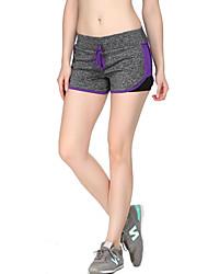 Yoga Pants Shorts / Bottoms Breathable / Comfortable Natural Stretchy Sports Wear Gray Women's Sports Yoga / Pilates