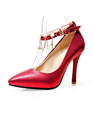 Women's Heels Spring Fall Leatherette Office & Career Casual Dress Stiletto Heel Gold Sliver Red