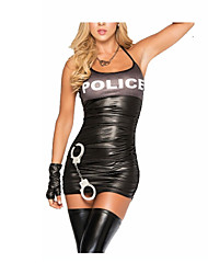 Sexy Girl Bandage Polyester Halloween Police Uniform Women Costumes