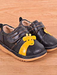 Boy's Flats Comfort Leather Casual Black