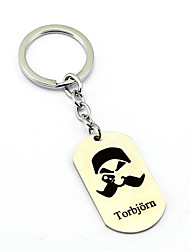 Inspired by Torbjorn Overwatch  Anime Cosplay Accessories Keychain Silver Alloy