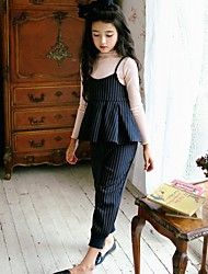 Girl Casual/Daily Striped Sets,Cotton Winter Clothing Set