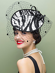 Women's Wool / Fabric / Net Headpiece-Wedding / Special Occasion / Casual Fascinators / Hats 1 Piece