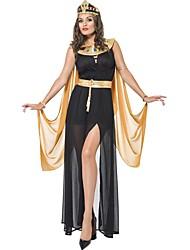 Costumes de Cosplay Conte de Fée Déesse Costumes égyptiens Cosplay de Film Robe Coiffure Halloween Carnaval Nouvel an Féminin Térylène