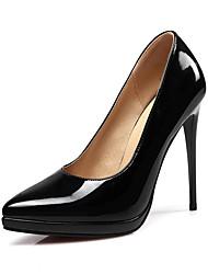 Feminino-Saltos-Sapatos com Bolsa Combinando-Salto Agulha-Preto / Rosa / Vermelho-Courino-Escritório & Trabalho / Festas & Noite / Casual