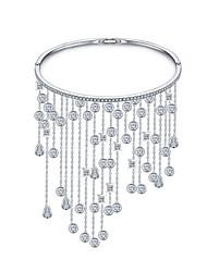 Women's Charm Bracelet Cuff Bracelet Zircon Cubic Zirconia Bridal White Jewelry 1pc