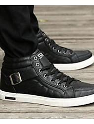 Men's Sneakers Comfort Microfibre Casual Black Brown White