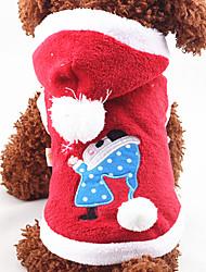 Cães Camisola com Capuz Vermelho Azul Rosa Roupas para Cães Inverno Primavera/Outono Desenhos Animados Natal Ano Novo