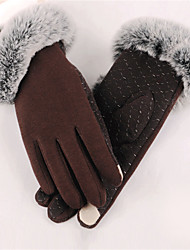 Women's Polyester Wrist Length Fingertips,Casual Solid Winter