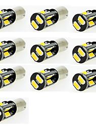 водить автомобиль свет BA9S T4W маркер чтения двери лампу указателя поворота 10 СМД 5630 12v DC теплый белый / белый (10 шт)