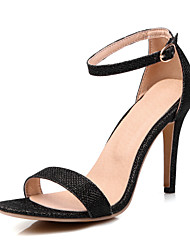 Women's Sandals Spring Summer Fall Glitter Casual Party & Evening Stiletto Heel Others Black Silver Gold