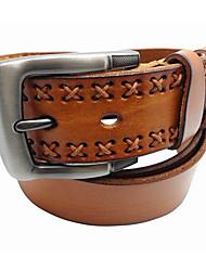 Men Cowhide Waist Belt,Vintage / Work / Casual Others