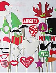 1 крышка (28pcs различные стили) озорные рождественские статьи кинофестиваль реквизита фестиваль пункты