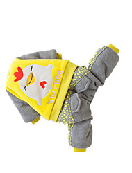 Dog Coat Dog Clothes Cute Flower Yellow