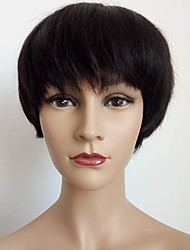 Fashionable Bob Cut Wig Machine Made Short Wig Virgin Human Hair None Lace Brazilian Hair Straight Bob Wig