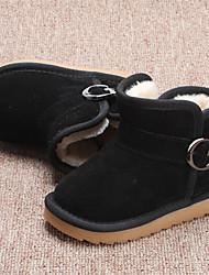 Kids' Girls' Baby Boots Comfort Snow Boots Suede Winter Casual Flat Heel Black Peach Brown Flat