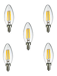 5pcs e14 lampe à incandescence LED 4l 400lm (ac220-240v)