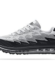 Femme-Extérieure / Décontracté-Noir / Bleu-Talon Plat-Confort-Chaussures d'Athlétisme-Polyuréthane
