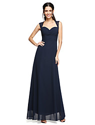 2017 Lanting Bride® Floor-length Chiffon Open Back Bridesmaid Dress - Sweetheart with Bow(s)