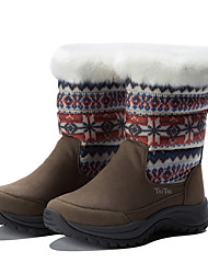 TnTn Women's Snow sports Mid-Calf Boots Winter Anti-Slip / Waterproof / Breathable Shoes Khaki / Brown