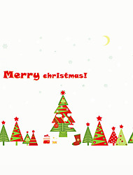 Wall Stickers Wall Decals Style Colorful Merry Christmas Tree PVC Wall Stickers