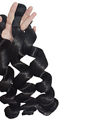 Natural Color Hair Weaves 3pieces Indian Remy Hair Extension Loose Hair Weft