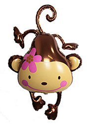 Balloons Monkey Aluminium Brown For Boys / For Girls 14 Years & Up