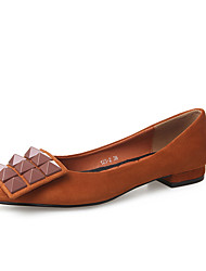 Черный / Коричневый-Женский-На каждый день-Полиуретан-На плоской подошве-Удобная обувь-На плокой подошве