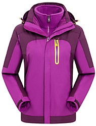 Women Outdoor Sports Winter Coat Fashion Soft Shell Jacket Hiking Cimbing Ski Clothing Fleece Jackets (1PCSJacket Soft Jacket & 1PCS Fleece Jacket)