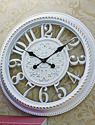 Retro Family Wall ClockRound Plastic 16 Indoor Clock White Color