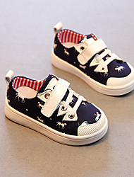 Boy's Flats Spring Fall Other Comfort Canvas Outdoor Casual Magic Tape Blue White Other