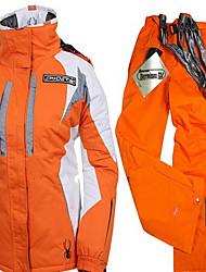 Randonnées Ensemble de Vêtements/Tenus Femme Etanche / Garder au chaud / Pare-vent / Antistatique / Confortable / Epais Hiver Coton Orange