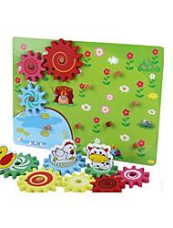 Jigsaw Puzzles Educational Toy / Jigsaw Puzzle Building Blocks DIY Toys Wood Rainbow Leisure Hobby