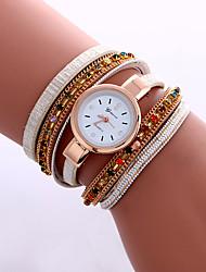 Femme Montre Tendance / Montre Bracelet / Bracelet de Montre Quartz Coloré PU BandeVintage / Etincelant / Bohème / Charme / Bracelet /